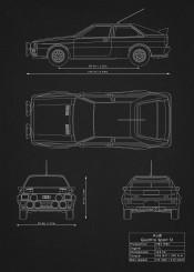 audi quattro sport car supercar super racing wrc schematic patent design