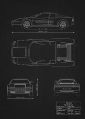 ferrari testarossa car supercar super blueprint design patent