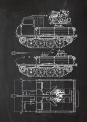 battle vehicle war machine fighting gun armour armoured soldier infantry blackboard blueprint patent army