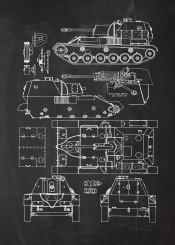 tank destroyer self propelled gun ussr soviet war world tanks patent drawing infantry heavy light soldier armour armoured wwii second blackboard bluperint