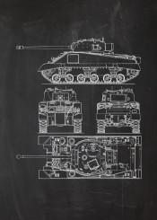 tank uk united kingdom commonwealth armoured allied formatons soldier infantry gun vehicle world tanks wwii second sherman blackboard blueprint blackprint vintage patent drawing