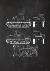 tank m3 lee fighting vehicle armoured armour soldier battle war wwii world fight blackboard blueprint blackprint vintage patent drawing