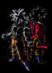 level ssj4 ultra instinct migatte gokui goku anime manga power tournament splatter stain dragon ball over 9000 ozaru saiyan
