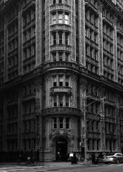nyc newyork manhattan blackandwhite building architecture renaissance urban street vintage retro