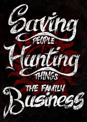 spnfamily typography familymotto motto supernatural