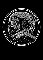 boom skull gun death dead blackandwhite time illustration graphic design granade sebrodbrick