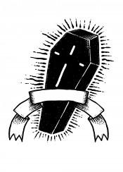 black coffin mystery death dead symbol symbolic design designart illustration sebrodbrick