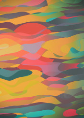 abstract fluid sun dark colorful harmony chaos planet dream astral other world positive dreamy foggy beautiful plasma sky clouds dawn dusk chilled shapes curves lines pattern gradient flow soft psychedelic smooth surreal fantasy mystical myth fable fairy tale