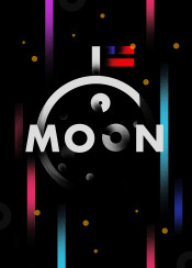 flag moon planets america usa stars gradient