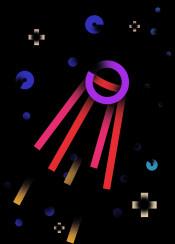 satellite cosmos star stars sputnik gradients neon