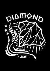 diamond light diamondlight symbol symbolic symbolism stars black white artwork design illustration typography text sebrodbrick