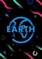 earth blue planet gradient gradients stars