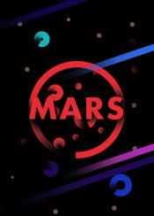 mars planet space stars typo typography red gradient
