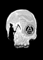 death grim grimreaper triangle symbol symbolic symbolism deathrow black white blackandwhite design illustration designart graphicdesign sebrodbrick horror skull skullhead dark darkness darkart