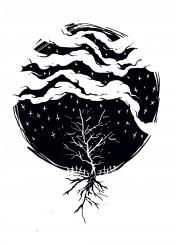 dead death tree rain deadrain black white dark darkart symbol symbolic artwork design designart illustration illustrative nature sebrodbrick