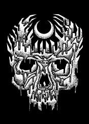 skull artwork design designart skullart skullhead death dead black white illustration graphic graphicdesign horror mystery mystic mystical detail detailart onecolor sebrodbrick