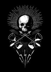 skull dead death artwork design designart illustration black white symbol symbolic symbolism glasstime light arrow artist sebrodbrick horror mystery mystical