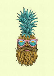 pineapple pineappleman pineapplehipster hipster cutepineapple coolpineapple cool cute beautiful sun sunset sunsetvibes ocean beach sea summser summervibes glass illustration fantasy surreal handdrawn handdrawing drawing fineart fineliner lineart
