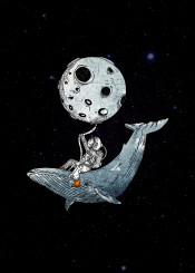 astronaut moon hampbackwhale whale space fantasy funy adventure spaceadventure galaxy planets coo cute cool fun funny illustration handdrawn drawing fineart fineliner urban urbanart