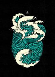 wave waves wildaves ocean surreal fantasy cool cute wavehunter sea nature deepocean triangle geometric abstract abstractshape hearth hearthocean coolposter illustration urban urbanart fineart fineliner drawing