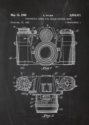 photo photographic camera patent drawing chalk blackboard blueprint blackprint vintage picture photography photoshot shot session