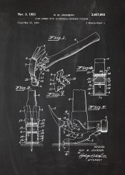 hammer claw tool mechanic worshop patent drawing nail
