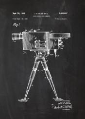 camera photo photography photographic cinema movie theater blackboard blueprint blackprint chalk vintage patent drawing