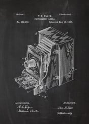 drawing patent vintage photo photographic camera cinema movie blackboard blueprint photography chalk