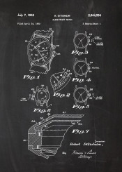 alarm wrist watch patent drawing vintage electronic casio timex fosil certina omega tag hauer watches delbana junghans blackboard blueprint blackprint