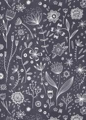 flower flowers drawing chalkboard sketch doodle white black floral pattern nature design illustration botanical line