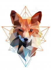 fox head animal geometric modern triangle abstract