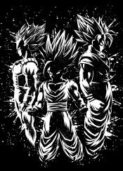 goku vegeta gohan anime manga kame hame genkidama saiyan ozaru otaku japan splatter ink stain kaioken
