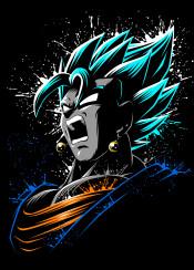fusion vegetto vegeku goku gogeta vegeta saiyan broly anime manga japan otaku super power kame