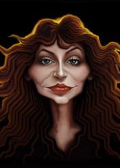 katebush music beautiful digitalart caricature wacom photoshopcc drawing andrekoeks andrekoeksart painting