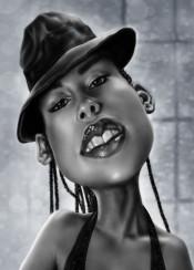 alicia aliciakeys music songwriter digitalart caricature portrait painting andrekoeks andrekoeksart singer photoshopcc wacom