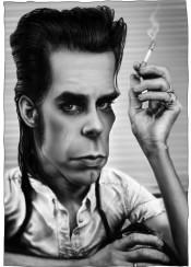 nickcave moody music digitalart caricature painting portrait wacom photoshopcc andrekoeksart andrekoeks