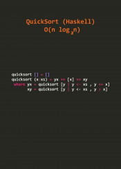 quick sort algorithm text programmer haskell functional programming math code