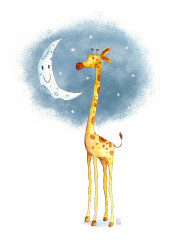 giraffe animal animals cute happy fun funny kids kid moon sweet night goodnight sleep