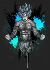 goku tattoo tattoos dragon ball power martial arts anime manga saiyan vegeta