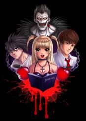 death note l light misa anime manga shonen deathnote japanese monster shinigami apple