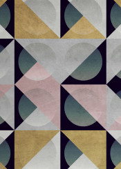 stone triangle circle geometric grey pink gold black geometry texture