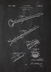 saxette patent drawing music instrument instrumental vintage old orchestra concert coneser conesser balckboard blueprint blackprint chalk musician play