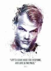 avicii tim bergling swedish musician dj remixer record producer music musician famous celebrity pop dance wake me hey brother nights legend legends legendary iconic icon quote inspirational inspiring life game made everyone love prize splatter texture water color cool new displate awesome fun great swav cembrzynski collection