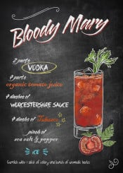 bloody mary vodka tomato drink cocktail tabsaco recipe chalkboard derpp