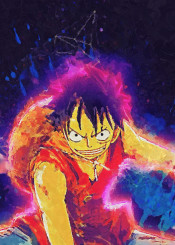 luffy pirates king rubber onepiece one piece canvas paintings