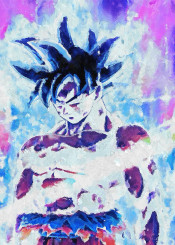 goku instinct super saiyan ultra dragonball canvas paintings