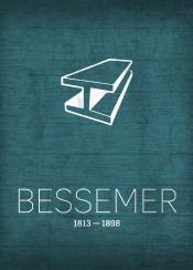 bessemer steel invention inventor henrybessemer series metal girder history icon symbol science chemistry learn minimalist