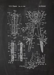 multitool patent drawing vintage leatherman tool tools blackboard blueprint knife
