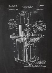 aw meat bone patent drawing chalk blackboard blueprint vintage old farm halal