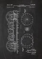saw machine patent drawing cut wood blackboard workshop bluprint chalk mechanic engine engineering engineer work circular blade